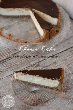 cheesecake con glassa al cioccolato fondente