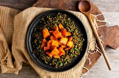 This recipe started out as something else I had in my pantry a bag of mixed sprouted lentils – black, green, and brown I cooked them with the intention of making dal, but I so liked the integrity of the cooked lentils – green and black lentils remain intact even after they soften – that I didn't want to mash them