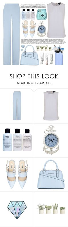 """""""Say it to my face, don't pretend"""" by itaylorswift13 ❤ liked on Polyvore featuring Armani Collezioni, Armani Jeans, philosophy, Unicorn Lashes and Allstate Floral"""