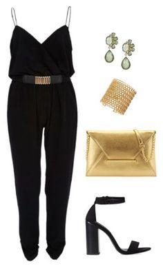 Ask CF: What Should I Wear to a Beyoncé Concert? | College Fashion. Black Jumpsuit, Gold Bling