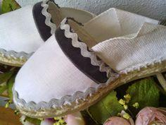 Alpargatas decoradas para comuniones, bodas y diferentes eventos