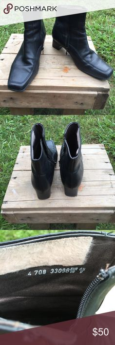 Black Mephisto leather boots Size 6 1/2, no flaws, ships today Urban Outfitters Shoes Ankle Boots & Booties