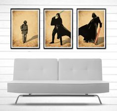 Star Wars Anakin Skywalker Become Darth Vader Poster Set #Minimalism