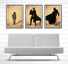 Star Wars Anakin Skywalker Become Darth Vader Poster Set #Minimalism