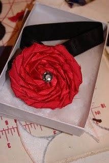 rolled satin flowers