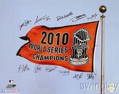 San Francisco Giants World Series Team Signed 16x20 Photo TriStar Bumgarner + 10