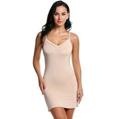 b3d8aba64 Sexy Nighty Women Night Gown Sleepwear Long Full Slip Home Sleep Dress  Nightwear Nude Dress