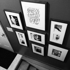 Hey, I recognize this gallery! (LetsLassoTheMoon) And, those are EasyGallery® frames. Zina changes out the photos all year long. (For the girls' birthdays, they get to choose the photos – so charming.)