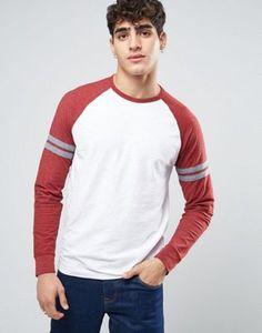 Abercrombie & Fitch Slim LS Top Baseball Sleeve Stripe