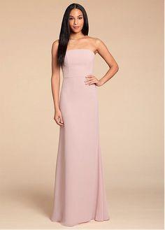 5c592053a4a Magbridal Glamorous Chiffon Bateau Neckline Sheath Column Bridesmaid Dresses