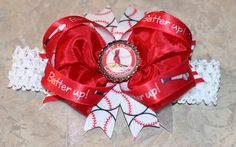 Custom St. Louis Cardinals Bow with Headband