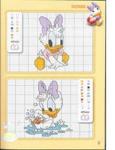 ru / Ôîòî - Disney a punto croce-Speciale baby - Chispitas Disney Cross Stitch Patterns, Cross Stitch For Kids, Cross Stitch Love, Cross Stitch Charts, Disney Stitch, Mickey Mouse Characters, Disney Babys, Stitch Cartoon, Baby Embroidery