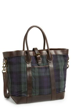 Polo Ralph Lauren  Blackwatch  Tote was available at  Nordstrom Plaid Purse 4bf2ebff3b1ac