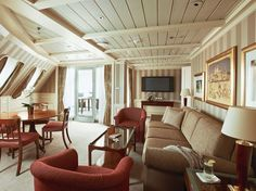 The Sexiest Cruise Ship Cabins by Andrea M. Rotondo for Condé Nast Traveler. The slideshow includes Silversea, Oceania Cruises, Regent Seven Seas Cruises, Windstar Cruises, Seabourn, SeaDream Yacht Club, Celebrity Cruises, Holland America Line, and Paul Gauguin Cruises.