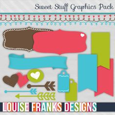 Thought these cute graphics from louisefranksdesigns.com would be great for your own blog designs and other craft projects. Cost from £5 - PU or CU, 20% off until end Feb 2013.