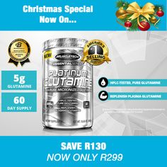 Muscletech Pro Series Glutamine Post Workout, Essentials, Pure Products