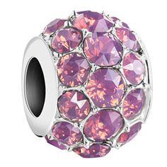 Chamilia Sterling Silver Cyclamen Opal Swarovski Splendor Bead