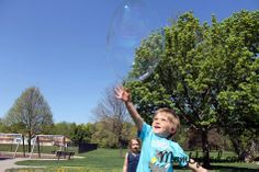Ideas for a fun summer with the kids  http://www.momupped.com/blowing-bubbles.html