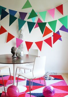 """How To Make Giant (10x12"""") Bunting...a cheap and easy way to fill up a large space 