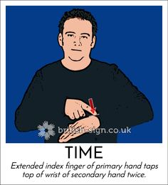 Today's #BritishSignLanguage sign is: TIME #GMT
