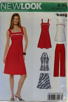 New Look 6789 Misses Dress, Tunic, Top, Pants and Bias Skirt