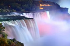 NIAGARA FALLS—BETWEEN THE U.S. AND CANADA.  Straddling the U.S.-Canada border, Niagara Falls is home to some of the best known waterfalls on Ear... - Shutterstock