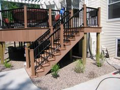 A weather-friendly deck and staircase. The Vande Hey Company, Inc.