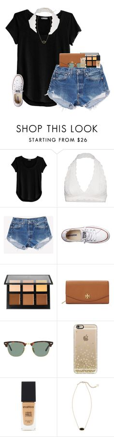 """""""praying for a glo up rtd"""" by evieleet ❤ liked on Polyvore featuring Cosabella, Free People, Converse, Anastasia Beverly Hills, Tory Burch, Ray-Ban, Casetify, Smashbox and Kendra Scott"""
