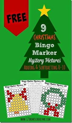 FREE Solve and Stamp Christmas Math Worksheets for Kids - these are such a clever, fun way for kindergarten, 1st grade, 2nd grade, 3rd grade, and 4th grade kid to practice addition and subtraction with a fun holiday twist (math worksheets, homeschool, math centers, free printable)