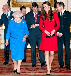 Kate and Queen Elizabeth II Host Stars at Buckingham Palace , February 17, 2014