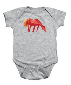 Red Horse Onesie for Sale by Colleen Proppe Red Art, Baby Design, How To Be Outgoing, Fine Art America, Onesies, Paintings, Horses, Gift Ideas, Gifts