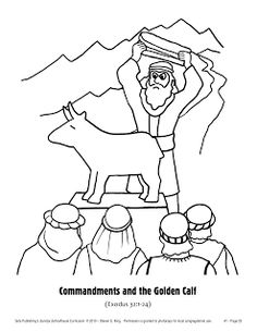Golden Calf Coloring Page Elegant sola Sunday School Archive the Case Of the Missing Page 25 Preschool Bible Lessons, Bible Lessons For Kids, Bible For Kids, Preschool Class, Kids Class, Sunday School Crafts For Kids, Sunday School Activities, Church Activities, Class Activities