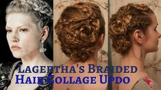Vikings: Lagertha's Braided Hair Collage Updo