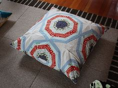 starburst quilted floor pillow by lori