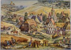 MI PARAISO ESCONDIDO: Medieval farming- life.