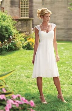 This is a hot sale dress from wedding dress category. Straps Empire Waist Knee-length Wedding Dress style code:08877 $89 Buy it here: http://www.outerinner.com/straps-empire-waist-knee-length-wedding-dress-pd-08877-13.html  #weddingdress #outerinner
