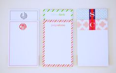Personalized Notepad  CANDY STRIPES Collection by PrettySmitten, $16.00