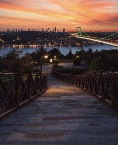 Otagtepe TEMA VakfI korusu - Istanbul // Photography by Onder Turkmen(onthere) Places Around The World, Around The Worlds, Visit Turkey, Hagia Sophia, Turkey Travel, City Landscape, Most Beautiful Cities, Istanbul Turkey, Travel Aesthetic