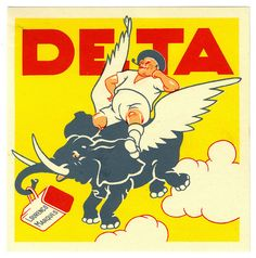 DETA Airlines Luggage Label by Art of the Luggage Label