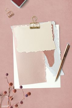 Blank torn pink paper templates set with a paperclip Framed Wallpaper, Graphic Wallpaper, Pastel Wallpaper, Iphone Wallpaper, Fond Design, Web Design, Paper Background, Textured Background, Pink Glitter Background