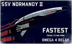 Retro Video Game Vehicle Posters- Mass Effect's SSV Normandy