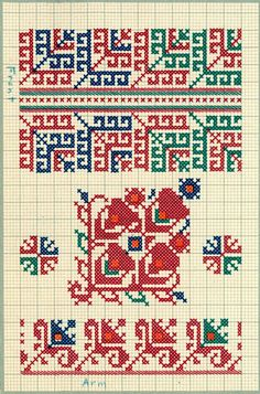 FolkCostume&Embroidery: Charted Embroidery designs from Vrlika, Dalmatia, Croatia