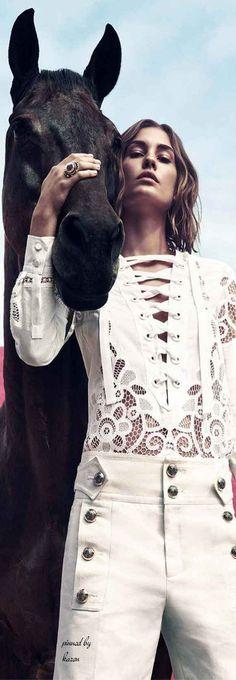 Diamond Cowgirl ~ Gucci - Harper's Bazaar by  International Photographer Camilla Akrans