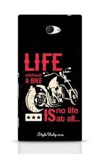 Life Without A Bike Is No Life At All Sony Xperia M2 Phone Case