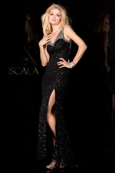 SCALA Fall 2016 style 48549 Black.  scalausa  sequins  gown  fall2k16 6cca82ab8
