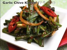 Korean garlic chive kimchi