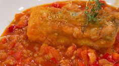 Saber cocinar - Bacalao rebozado al pimentón con chilindrón