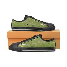 Map of London olive Women's Shoes (Large Size)