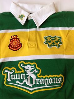 DRUNKNMUNKY 36 Men's Zodiac Year Of The Dragon Rugby Polo Shirt Size XXXL Rare! #DrunknMunky #PoloRugby