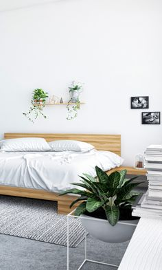 Sleep well with fresh greenery and the Fredrik Bed from Kure